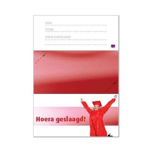 printbare envelop geslaagd