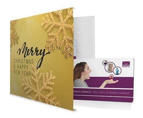 cadeaubon in luxe envelop als Kerstcadeau man