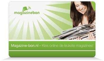Magazinebon tijdschriften cadeaubon