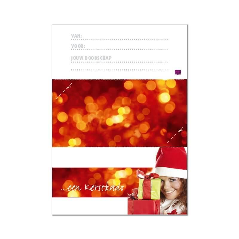 printbare envelop Kerst voor haar