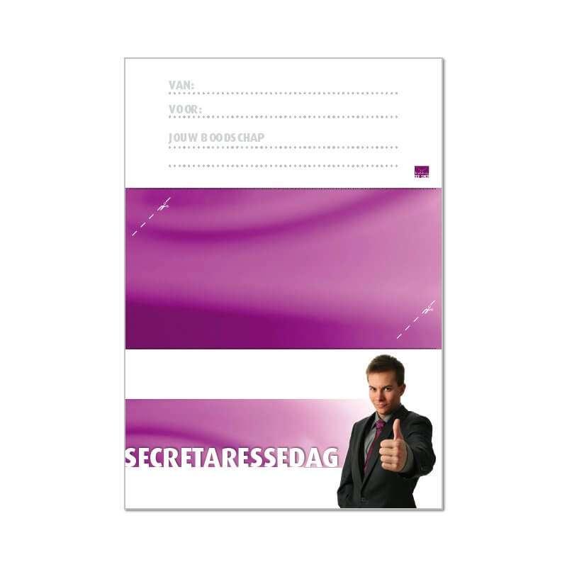 printbare envelop Secretaressdag